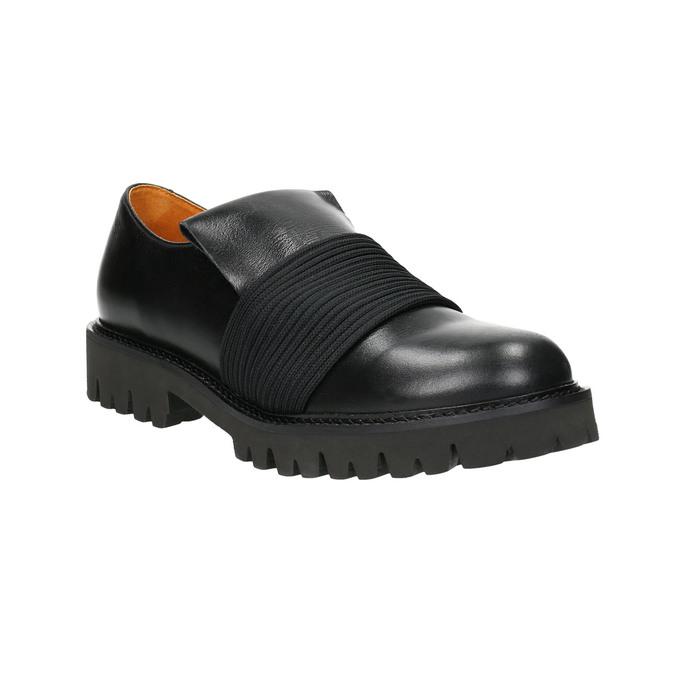 Pánská kožená obuv Loafers bata, černá, 836-6600 - 13