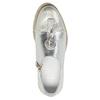 Dámské kožené polobotky stříbrné bata, stříbrná, 536-1600 - 17