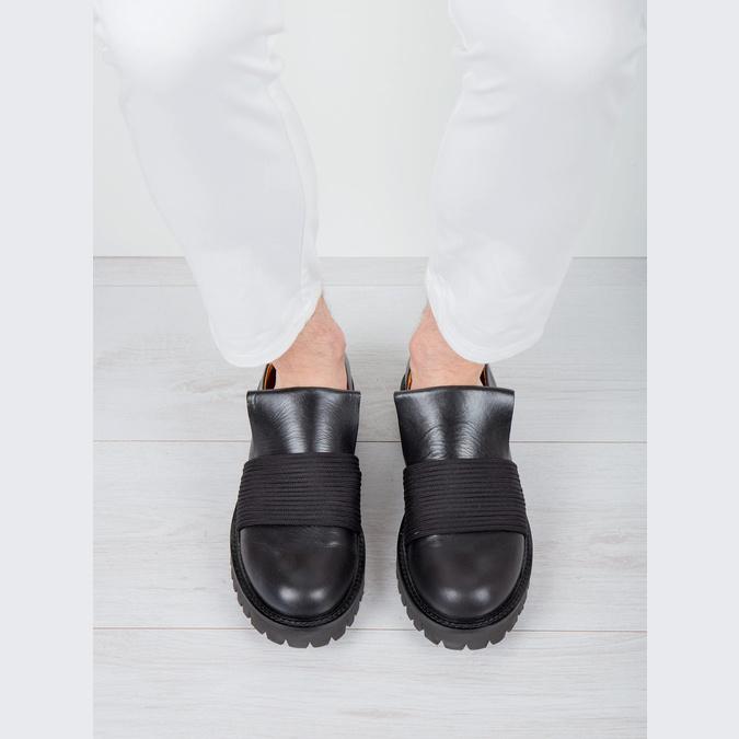 Pánská kožená obuv Loafers bata, černá, 836-6600 - 14