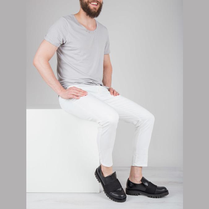Pánská kožená obuv Loafers bata, černá, 836-6600 - 18
