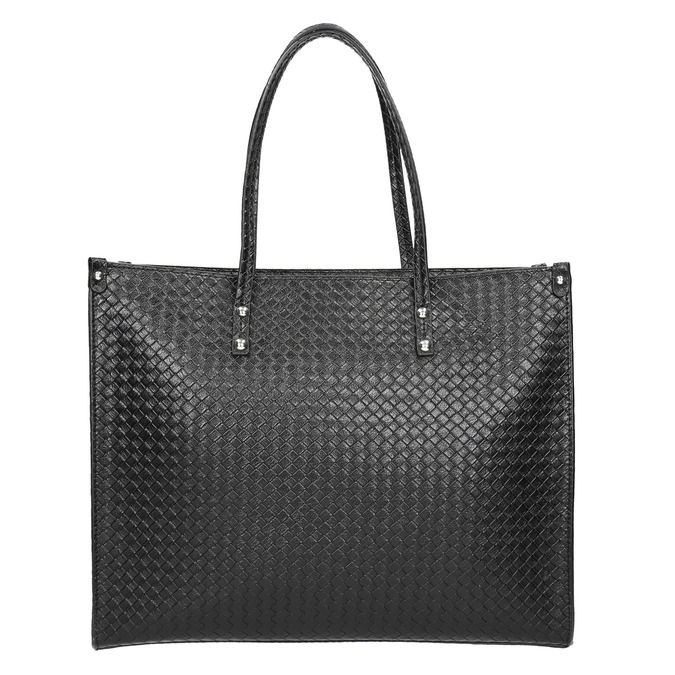 Kabelka s pleteným vzorem bata, černá, 961-6540 - 17