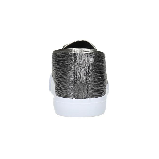Dámské Slip-on s žíhaným vzorem north-star, stříbrná, 511-6605 - 17