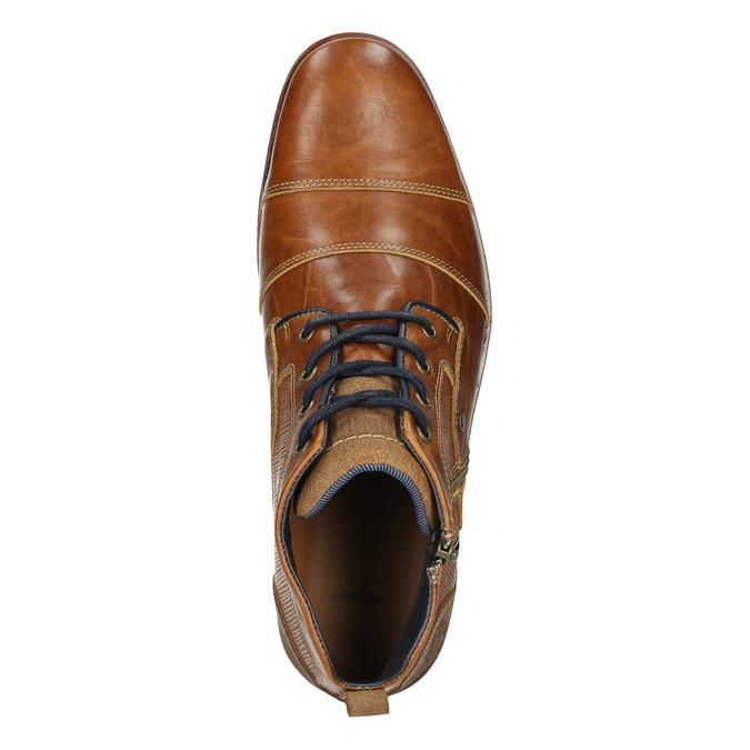 Kožená kotníková obuv se zipem bata, hnědá, 826-3911 - 26