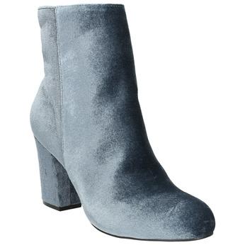 Dámské sametové kozačky bata, šedá, 799-2616 - 13