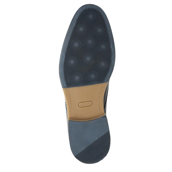 Neformální kožené polobotky bata, modrá, 826-9910 - 19