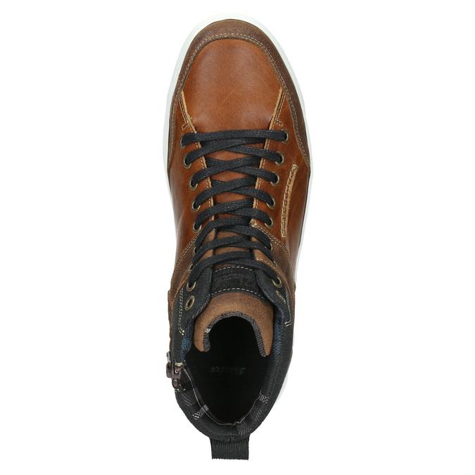 Kožené kotníčkové tenisky bata, hnědá, 846-3640 - 26