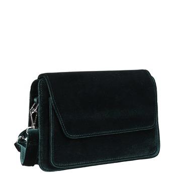 Dámská sametová Crossbody kabelka bata, zelená, 969-7662 - 13