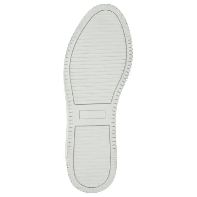 Kožené dámské tenisky se zipem bata, bílá, 526-2630 - 19