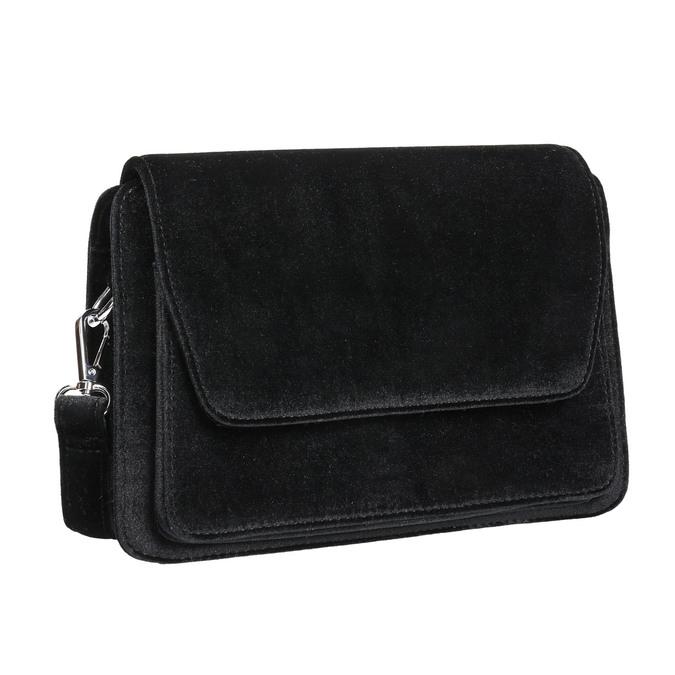 Sametová dámská Crossbody kabelka bata, černá, 969-6662 - 13