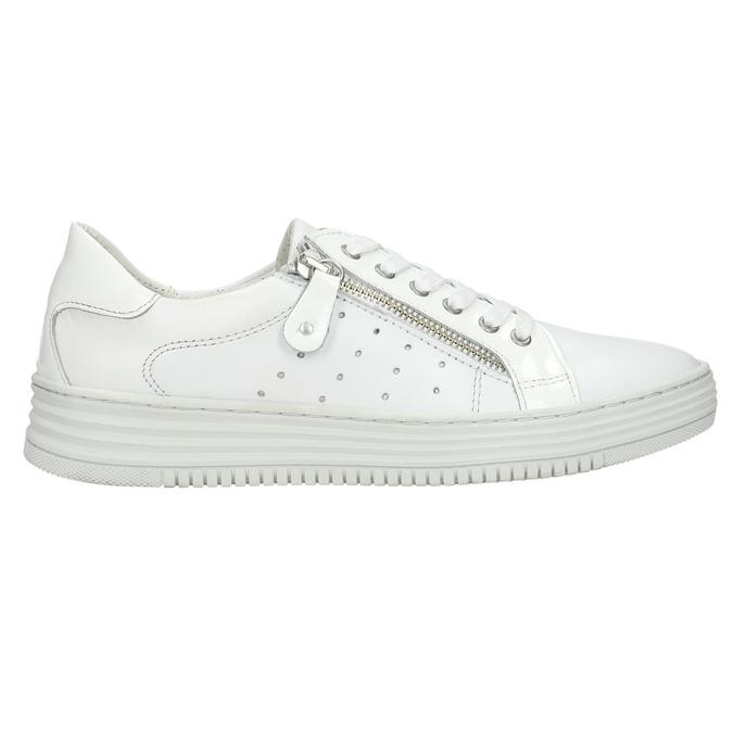 Kožené dámské tenisky se zipem bata, bílá, 526-2630 - 15