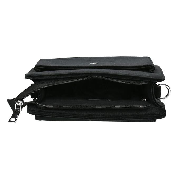 Sametová dámská Crossbody kabelka bata, černá, 969-6662 - 15