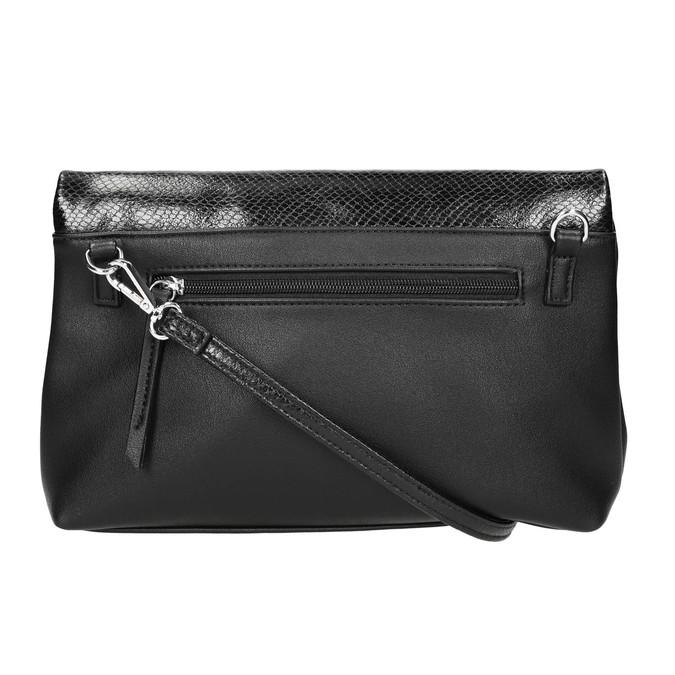 Crossbody kabelka s klopou bata, černá, 961-6501 - 26
