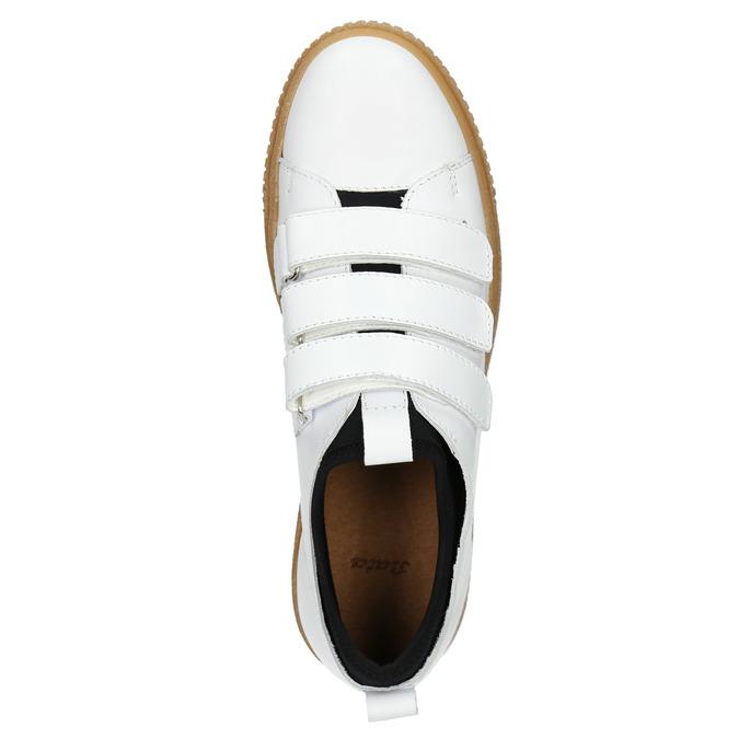 Kožené dámské tenisky na suché zipy bata, bílá, 526-1646 - 15