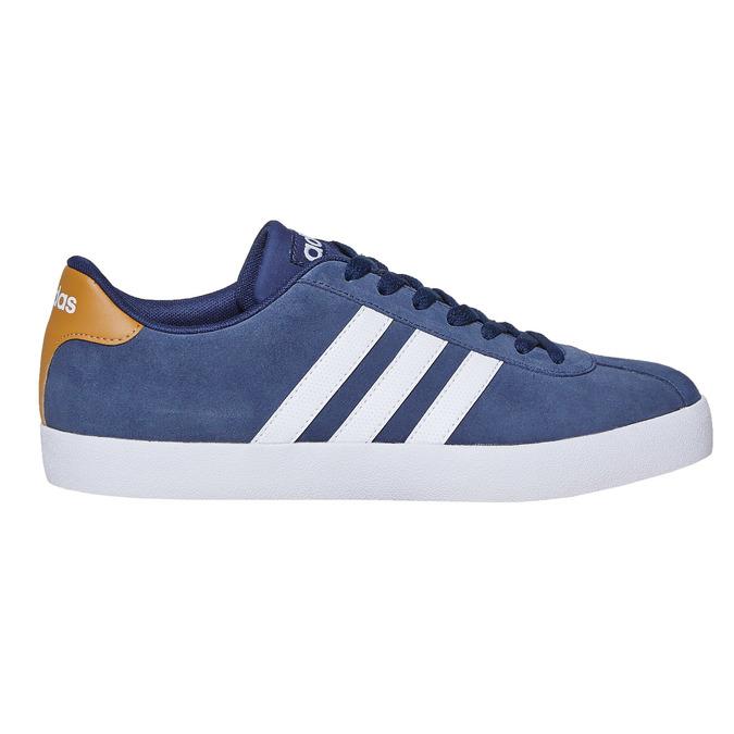 Pánské kožené tenisky adidas, modrá, 803-9197 - 15