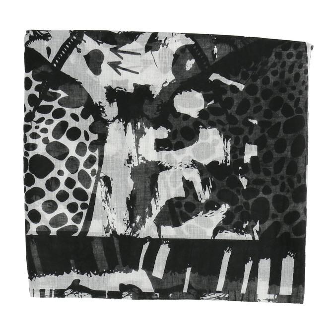 Dámský šátek se vzorem bata, černá, 909-6626 - 26