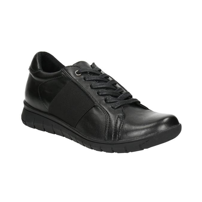 Ležérní kožené tenisky bata, černá, 524-6606 - 13