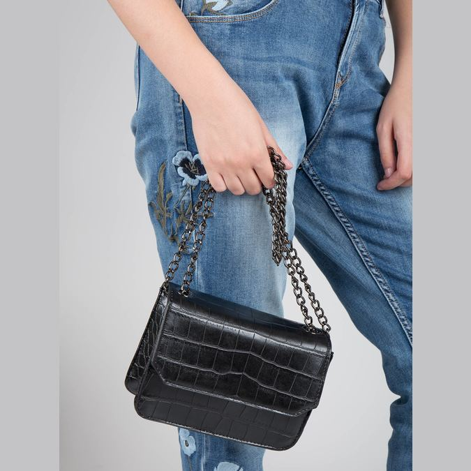 Dámská kabelka s řetízkem bata, černá, 961-6753 - 17
