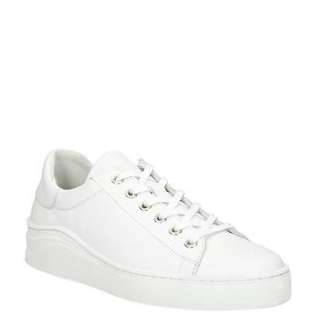Bílé kožené tenisky bata, bílá, 526-1641 - 13