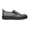 Dámské Slip-on na černé flatformě bata, šedá, 516-1613 - 15