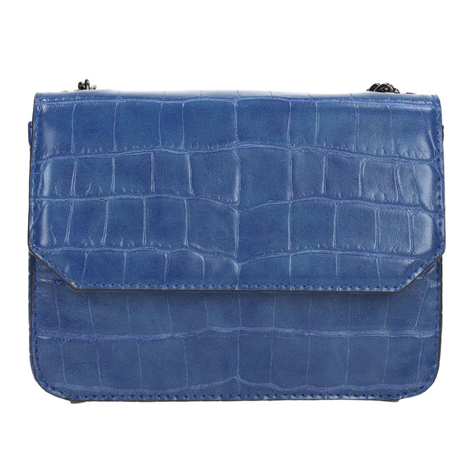 Modrá kabelka se strukturou bata, modrá, 961-9753 - 19