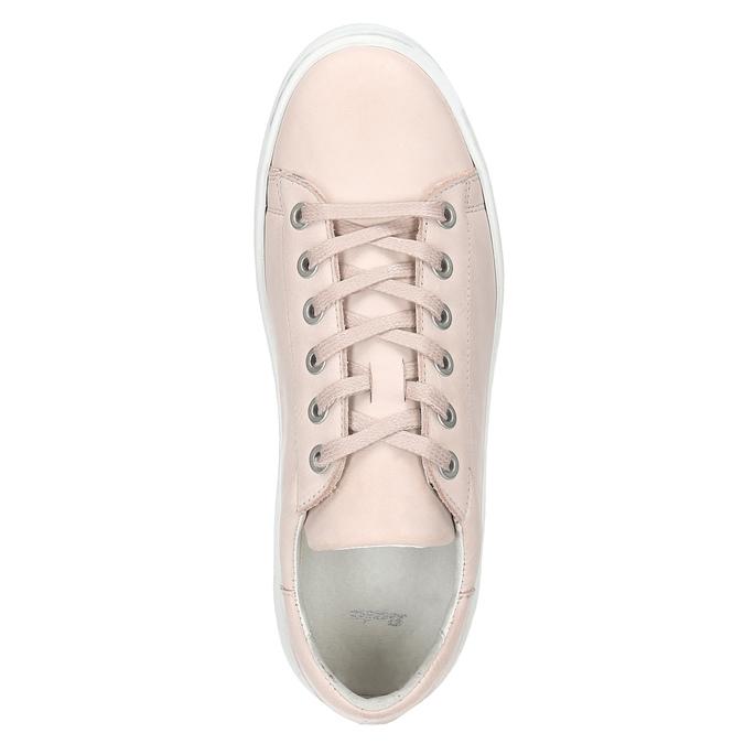 Dámské kožené tenisky bata, růžová, 526-5641 - 15