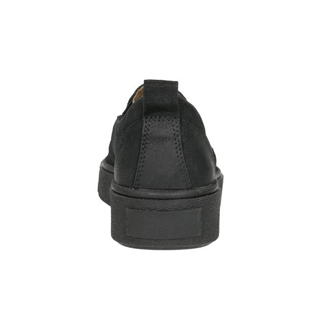 Kožená dámská Slip-on obuv bata, černá, 516-6613 - 17