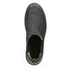 Dámská kožená kotníčková obuv bata, černá, 596-6671 - 15