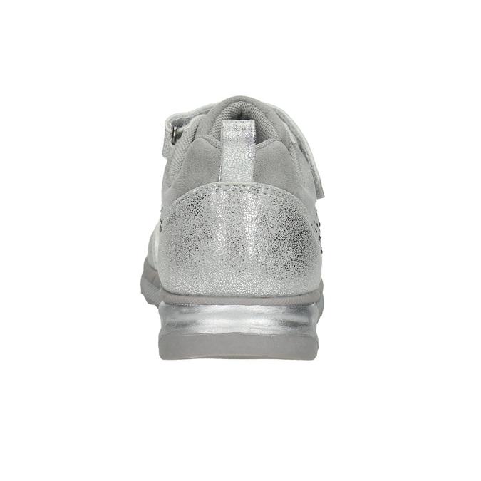 Stříbrné dívčí tenisky s kamínky mini-b, šedá, 329-2295 - 17
