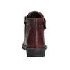 Dámská kožená kotníčková obuv bata, červená, 596-5656 - 17