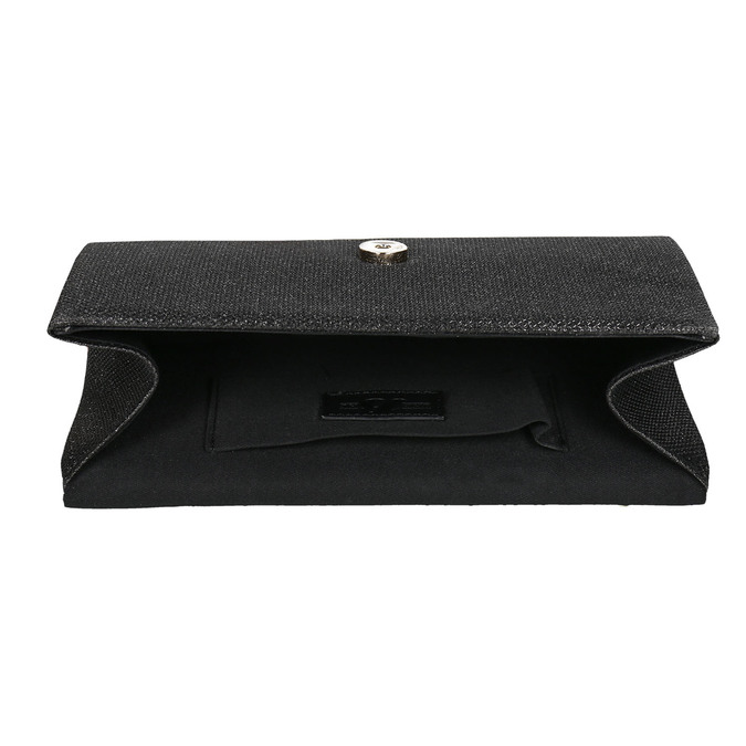 Černé dámské psaníčko bata, černá, 969-6661 - 15