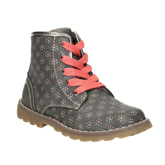 Dětská kotníčková obuv bubblegummers, šedá, 221-2606 - 13