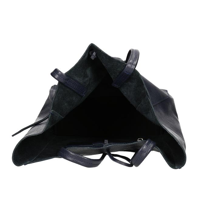 Kožená dámská Shopper kabelka bata, modrá, 964-9122 - 15