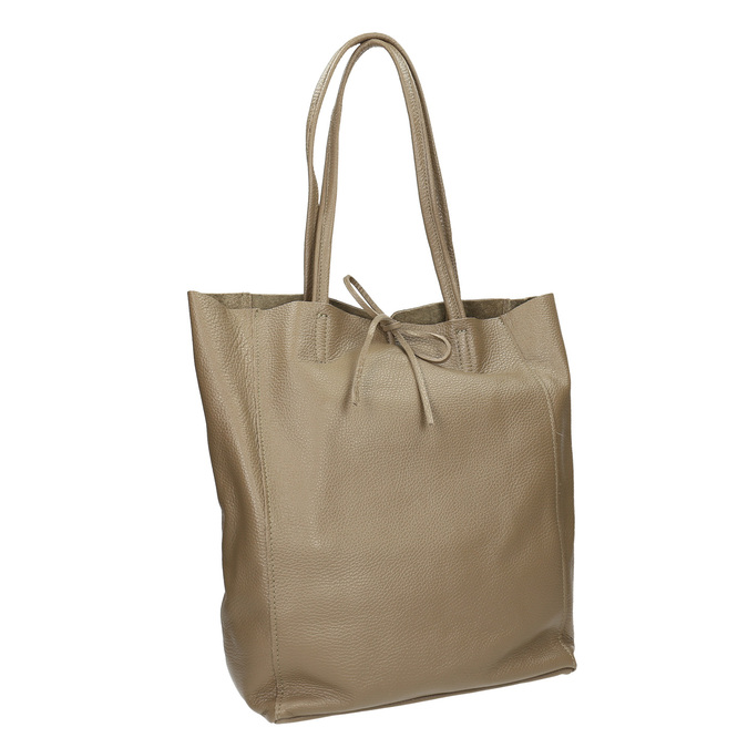 Dámská kožená kabelka s mašlí bata, hnědá, 964-2122 - 13