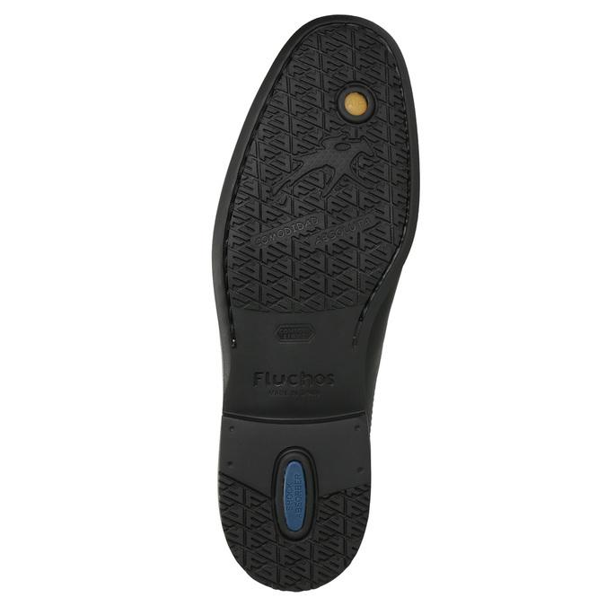Kožená kotníčková obuv fluchos, černá, 824-6069 - 19