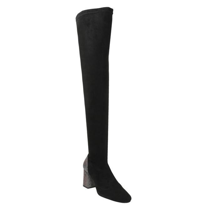 Dámské kozačky nad kolena classico-and-bellezza, černá, 796-6024 - 13