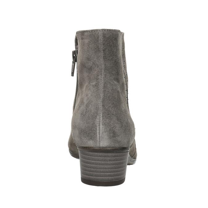 Kotníčkové dámské kozačky se cvoky gabor, šedá, 613-2023 - 17