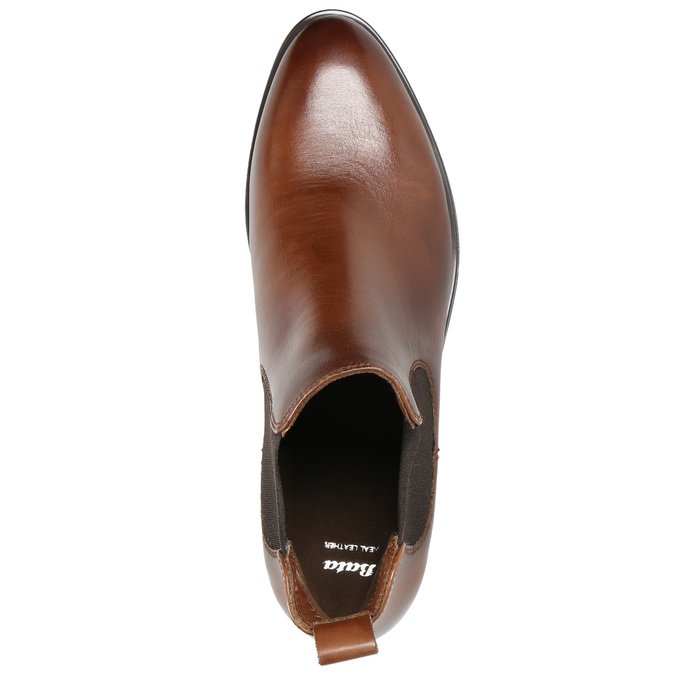 Kožená dámská Chelsea obuv bata, hnědá, 594-4635 - 19