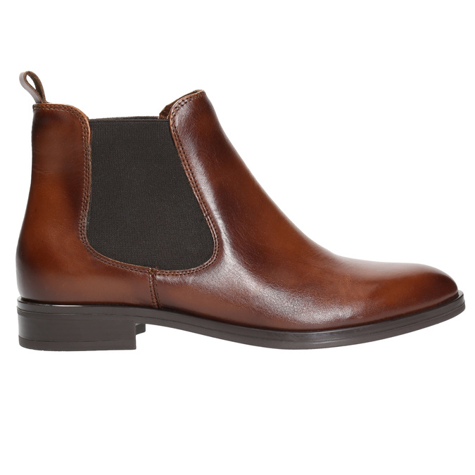 Kožená dámská Chelsea obuv bata, hnědá, 594-4635 - 15