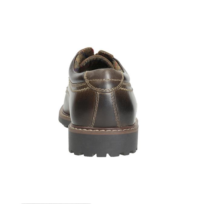 Pánské kožené polobotky bata, hnědá, 826-4619 - 17
