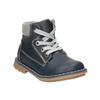 Kožená dětská obuv bubblegummers, modrá, 114-9610 - 13