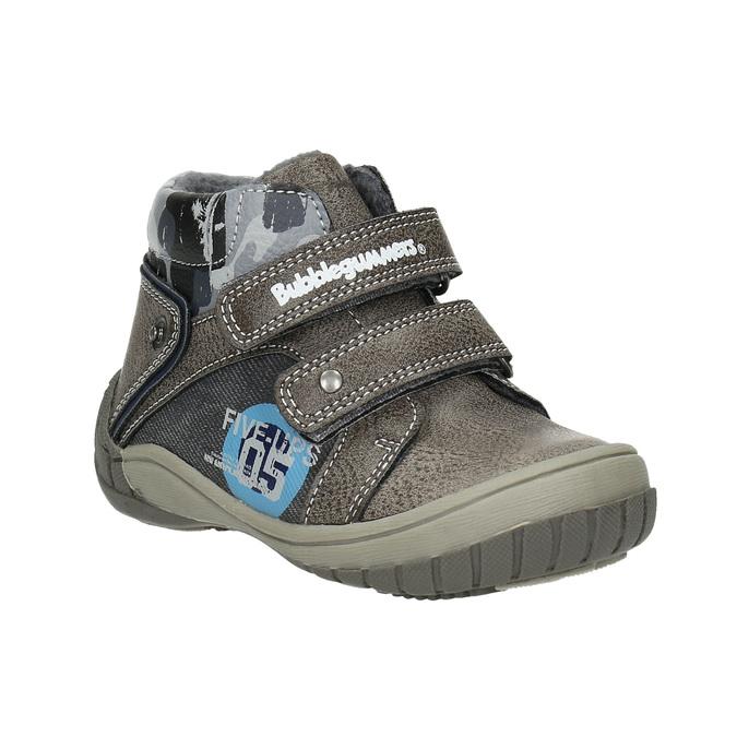Chlapecká kotníčková obuv bubblegummers, šedá, 111-2618 - 13