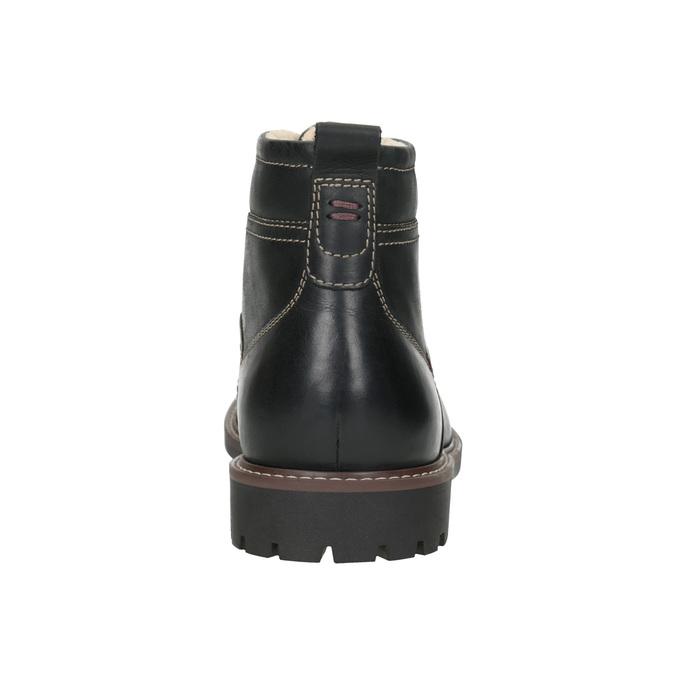 Kožená zimní obuv bata, černá, 894-6642 - 16