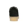 Kožené tenisky na výrazné flatformě bata, černá, 523-6604 - 17