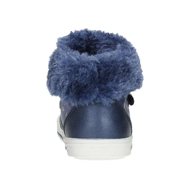 Dívčí obuv s kožešinou bubblegummers, modrá, 121-9621 - 17