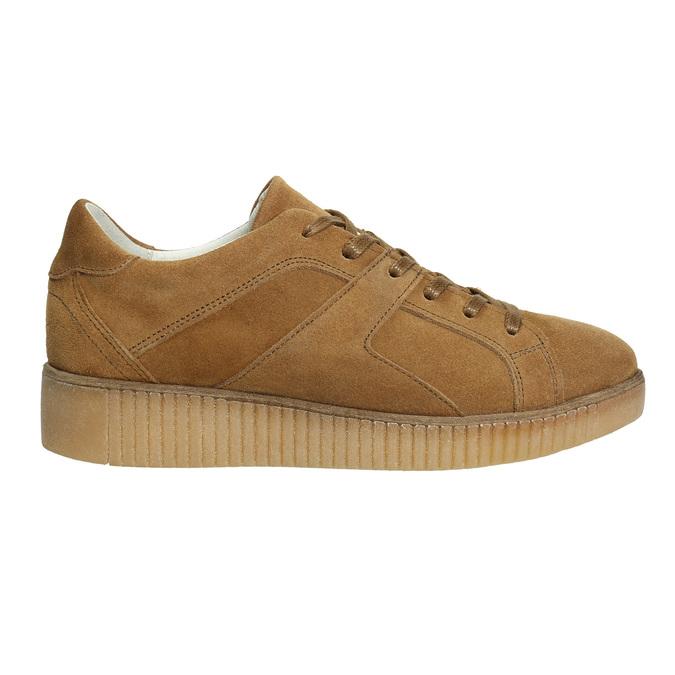 Hnědé kožené tenisky bata, hnědá, 523-8604 - 15