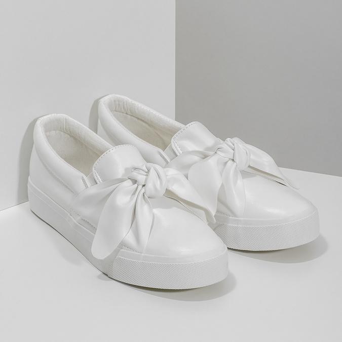 Dámská Slip-on obuv s mašlí north-star, bílá, 511-1606 - 26