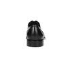 Černé kožené Derby polobotky bata, černá, 824-6405 - 17