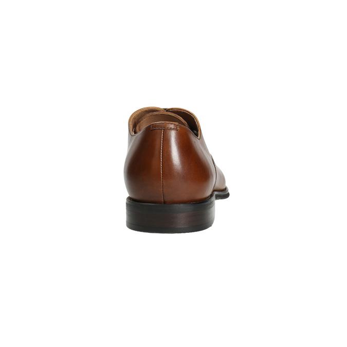 Kožené Oxford polobotky se zdobením bata, hnědá, 826-3690 - 17