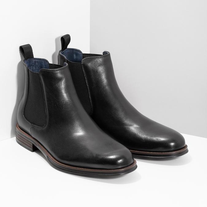 Kožené Chelsea Boots bata, černá, 894-6400 - 26