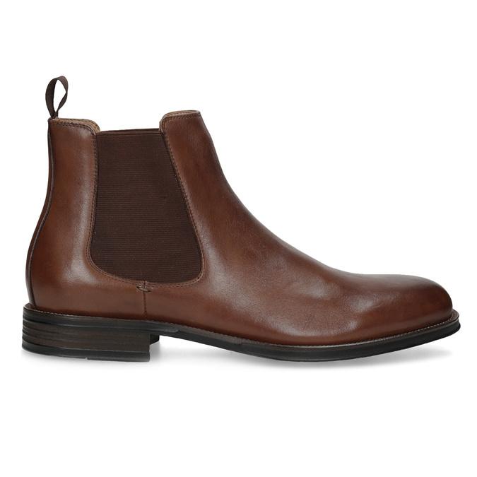 Hnědé kožené Chelsea Boots bata, hnědá, 896-3400 - 19